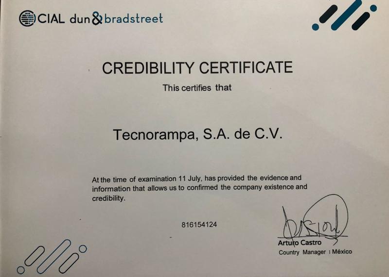 Certicicación Dun & Bradstreet